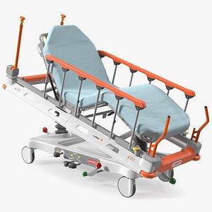 Emergency Stretcher Trolley Linet Sprint 100 3D model