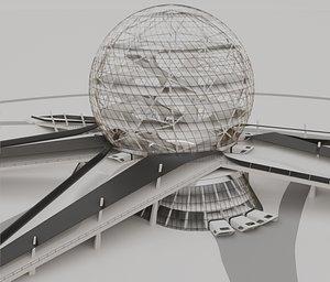 architecture structure 3D model