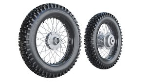 3D Maxxis Motorcycle Wheels model