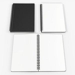 spiral sketchbook book 3D model