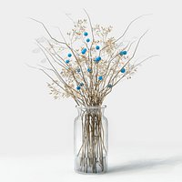 dry flowers vase