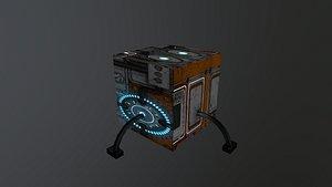 Sci-Fi Energy Cube 3D model