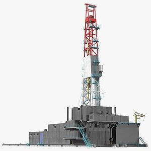 Sectional Drilling Rig 3D model
