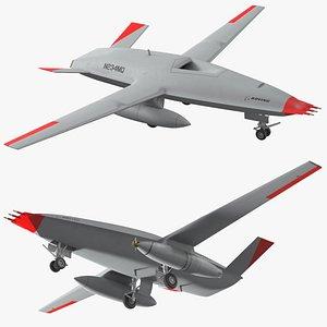 3D mq25 stingray aerial refueling model