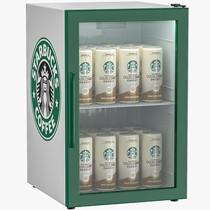 refrigerator mini starbucks 3D model