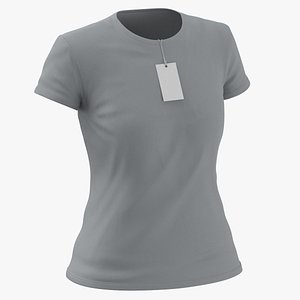 3D Female Crew Neck Worn With Tag Gray