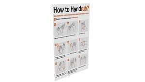 3D model Hand Rub Poster