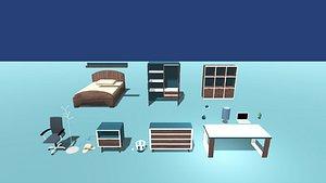 Kawaii House Interior Pack  Room 3D