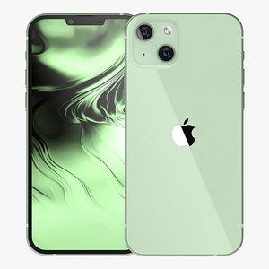 3D Apple iPhone 13 Green