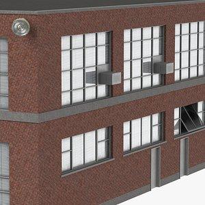 old industrial building 05 model