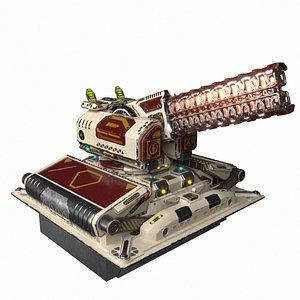 3D Imperial Medium Railgun model