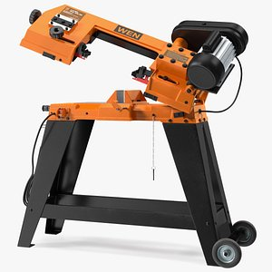 3D WEN 3970T Metal Cutting Band Saw with Stand Rigged