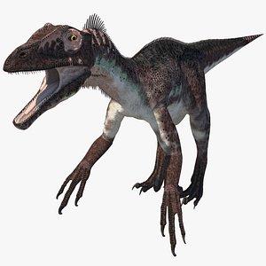 utahraptor dinosaur 3D model