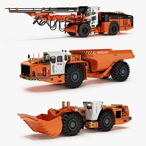 Mining Underground Mashines Sandvik 3D