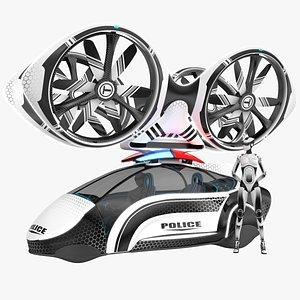 Sci-Fi Futuristic Police Patrol 3D
