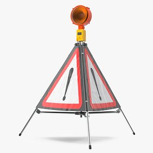 traffic warning sign danger 3D model