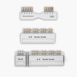 Dental Porcelain Teeth Shade Guide 3D model