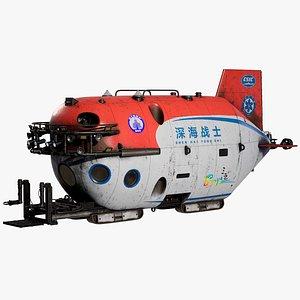 3D Submersible Shenhai Yongshi Research Laboratory PBR model