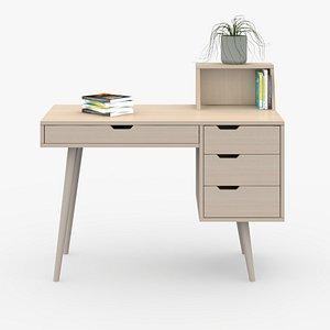 3D Desk in home D3 model