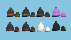 08 Beanie Winter Cap Collection - Character Fashion Design 3D model