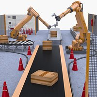 Automation Robotic Bag Palletizing Cell