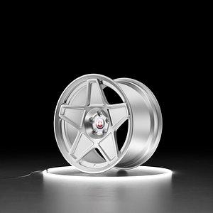 3D HRE 505M Car wheel