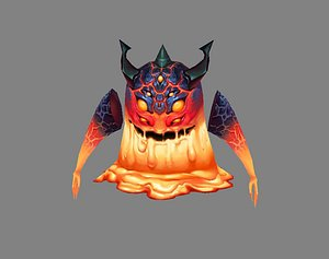 devil lava monster 3D