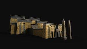temple pharao pharaoh 3D