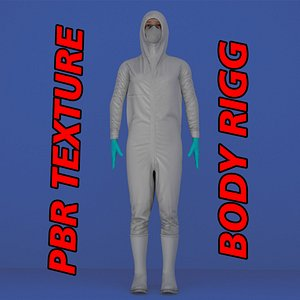 3D protective clothing  female model
