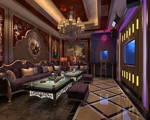 KTV bar box private box entertainment club volume style science fiction science and technology sense 3D model