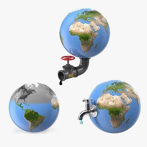earth stylized 3D