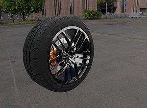 3D nissan gtr wheel