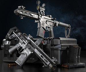 3D model pistol ar15