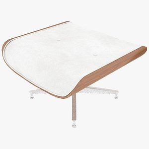 eames ottoman wooden leather 3D model
