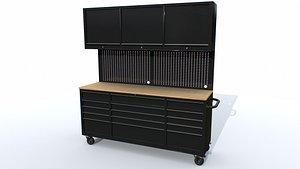 Workbech Storage Tools Trolley 3 3D model