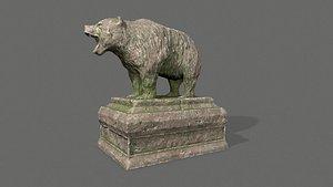 Bear Statue 8 model