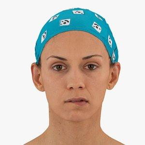 athena human head lip 3D model