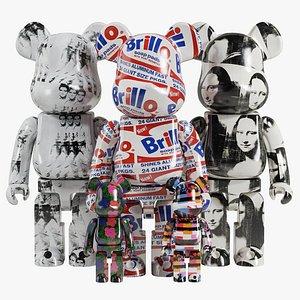 Bearbrick Andy Warhol 3D model
