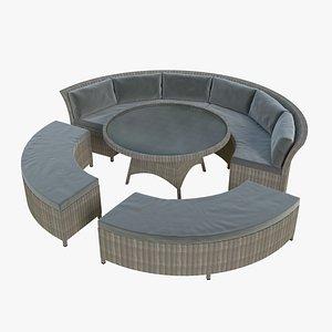 Round Garden Chair 3D model