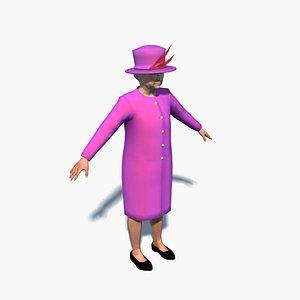 queen elizabeth 3D model