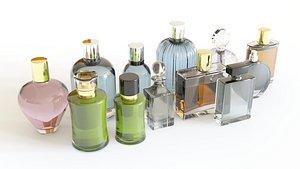 perfumes bottles liquid model