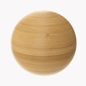 3D Wooden sphere model