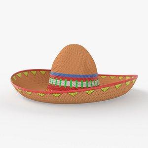 sombrero hat mexican 3D model