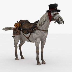 Halloween Horse Rigged 3D