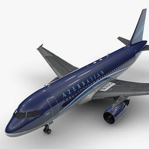 3D AirbusA319-100AZERBAIJAN AirlinesL1441 model