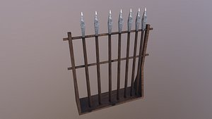 Low Poly Spears 3D model