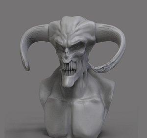demon bust 3D model