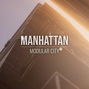3D Manhattan - Modular City - All Formats model