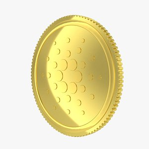 Cardano ADA Cryptocurrency Coin 3D model
