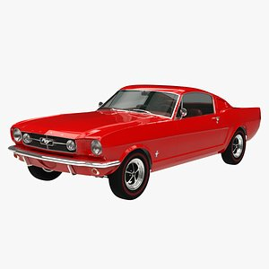 3D Ford Mustang Fastback GT 1965